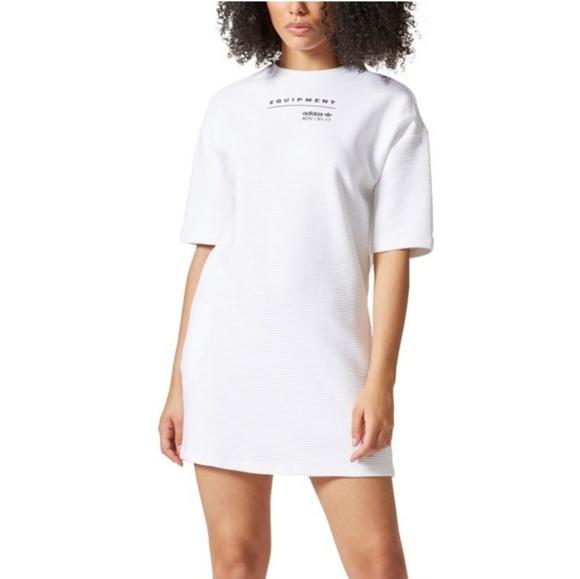 85ce3c252ef adidas Dresses | Originals Eqt Tshirt Dress Large White Nwt | Poshmark